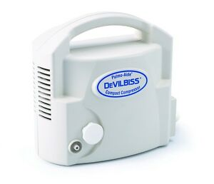 New Devilbiss Pulmo aide Compact Compressor Nebulizer System With Nebulizer Kit