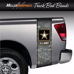 U s Army Digital Camo Military Truck Bed Band Stripe Graphic Decal Kit