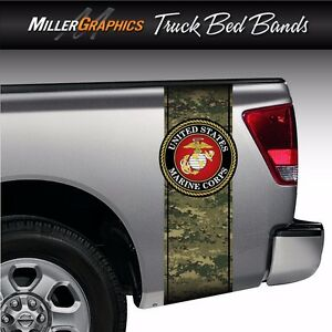 U s Marines Digital Camo Military Truck Bed Band Stripe Graphic Decal Kit
