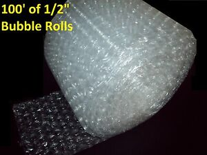 100 Feet Of Bubble Wrap 12 Wide 1 2 Large Bubbles Perforated Every 12 Big