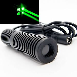 5v 24v 532nm 100mw Green Laser Module Dot Effect thick Beam Bar Stage Light