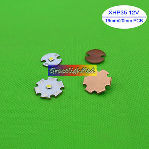 Cree Xh35 12v 13w 1483lm Cool White 6500k Led Chip With 16mm 20mm Copper Pcb