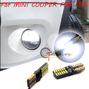 2 Can Bus White Led 24 Smd Front Sidemarker Lights For 2014 Mini Cooper F56 F55