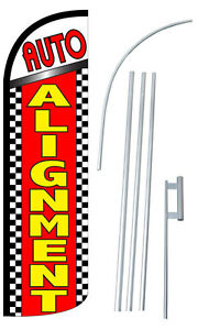 Auto Alignment Flag Kit 3 Wide Windless Swooper Feather Advertising Sign