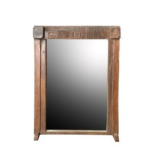 75 5 Tall Milo Mirror On Stand Solid Solid Wood Carved Antique Reclaimed W