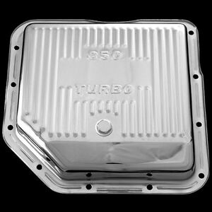 Chrome Transmission Pan For Chevy Pontiac Olds Gm Turbo 350 Trans