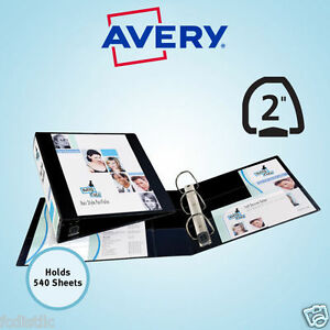 3 Pack Of Avery Heavy duty View Binders Ezd rings 2 Inch Black