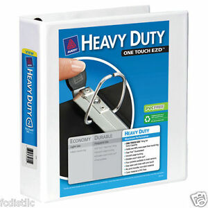 3 Pack Of Avery Heavy duty View Binders Ezd rings 2 Inch White