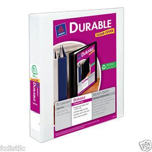 4 Pack Of Avery Durable View Binders With Slant Rings 1 1 2 Capacity White