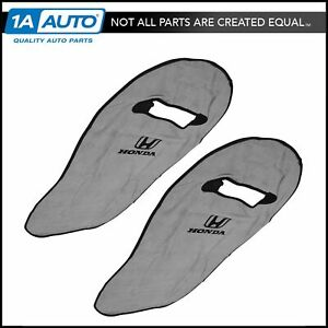 Oem Gray Cotton Terry Velour Seat Armour Cover Front Lh Rh Pair For Honda