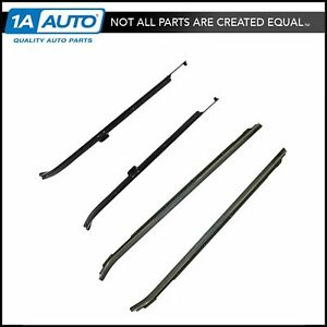 Window Sweep Inner Outer Front Weatherstrip Set Of 4 For Chevy Caprice Impala