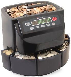 Canadian Coin Sorter Money Counter Digital Machine Bins Wrappers Hopper Bat