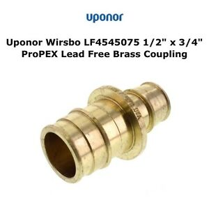 Uponor Wirsbo Lf4545075 Lead Free Brass Coupling 1 2 Pex X 3 4 Pex 25ct New