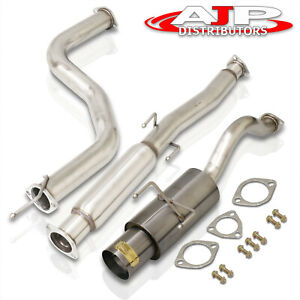 For 96 2000 Honda Civic 3dr 65mm Piping Stainless Steel Exhaust Catback 4 5 Tip