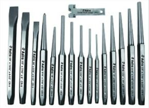 16 Pc Punch And Chisel Set Astro Pneumatic 1600 Ast