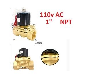 1 Inch Electric Solenoid Valve Dc 12v water air Gas air Suspension Nc A180