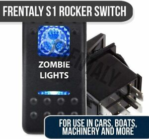 Blue Light Led Zombie 12v 20a 10a 5 Pin Rocker Toggle Switch Car Boat Waterpoof