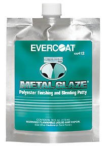 Metal Glaze 16 Oz Fibre Glass Evercoat 412 Fib