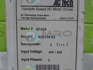 Ac Tech Sf430 Variable Speed Ac Motor Drive factory Seal