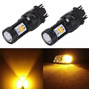 Jdm Astar 2x Newest 3030 Smd 12v Led Bulbs For Gmc Turn Signal Brake Tail Lights