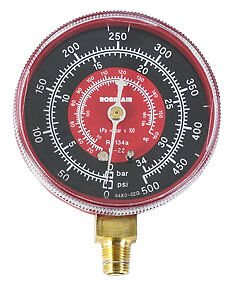 High Side Universal Replacement Gauge Red Robinair 11795 Rob Lp
