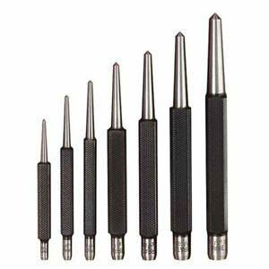 Starrett S264wb 1 16 1 4 7 Pc Center Punch Set W square Shanks