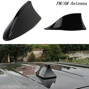 Black Universal Auto Car Roof Radio Am Fm Signal Shark Fin Style Aerial Antenna