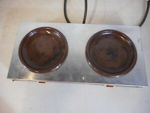 Vintage Bloomfield Countertop Dual Hot Plate Burners Coffee Warmer Commercial