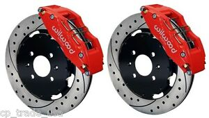 Wilwood Disc Brake Kit Front Fits Honda Acura12 Drilled Rotors 6 Piston Caliper