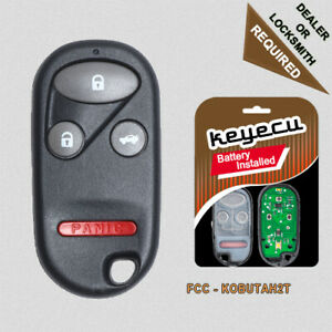 New Keyless Entry Remote Car Key Fob For 2000 2002 Honda Accord Kobutah2t
