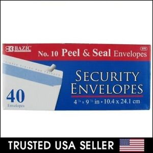 40 Peel Self seal White Letter Mailing Long Security Envelopes 4 1 8 X 9 1 2