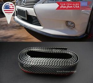 1 3 Carbon Fiber Look Ez Fit Bumper Lip Splitter Chin Splitter For Mitsubishi
