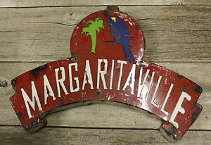 Rustic Metal Letters Margaritaville Tin Sign Garden Home Ranch Decor Man Cave