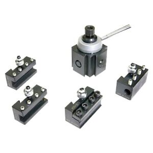 5 Pc Steel Mini Quick Change Tool Post Holder Set For 7 Lathes 3900 5349