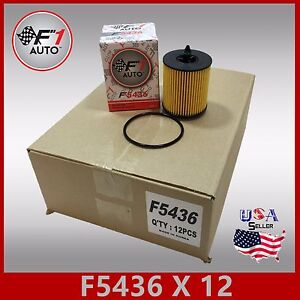 1case Of 12pcs F5436 Chevy Saturn Oil Filter Replacement Kit 2 0l 2 2l 2 4l