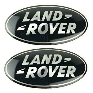 2014 2016 Land Rover Lr4 Grille Tail Gate Emblem Black Oval Badges Set Genuine