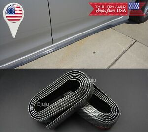 2 X 8 Ft Carbon Fiber Look Ez Fit Bottom Line Side Skirt Extension Lip For Benz