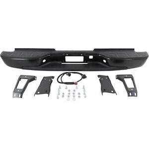 Step Bumper For 2001 2006 Chevrolet Silverado 2500 Hd Sierra 3500 Black Rear