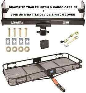 Trailer Hitch Cargo Basket Carrier Silent Pin Lock Fits 05 15 Toyota Tacoma