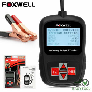 Foxwell Bt100 Pro 12v Car Battery Tester For Lead Acid Flooded Battery Analyzer