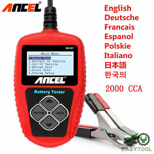Ancel Ba101 12v 100 2000 Cca 220ah Auto Car Load Battery Tester Digital Analyzer