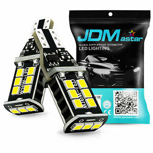 Jdm Astar 2x 3030 Smd 921 912 6000k White Back Up Reverse Led Lights Bulb Backup