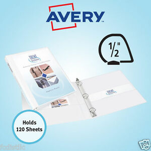 6 Avery Durable View Binders Slant Ring 1 2 Inch White