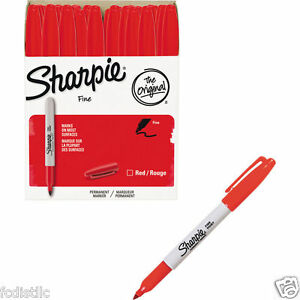 Sharpie Permanent Marker Fine Point Red 36ct