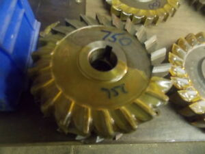 5 0 Diameter Hss 750 Slitting Side Milling Cutter 1 0 Arbor