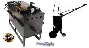 pavemade Hotbox 30 Combo Pourpot On Wheels Rubberized Asphalt Repair Sealcoat