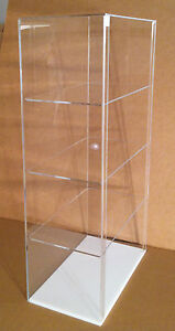 Usa Acrylic Counter Top Display Case 12 X 7 X 22 5 different Shelf Spacing