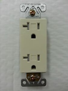 50 Pc Decorator Duplex Receptacles 20 Amp Tamper Resistant Almond 20a Decora