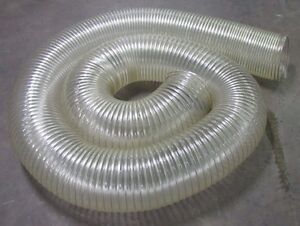 No Name 10 Diameter Clear See Through Flexible Duct Tube Hose 21 In Length New