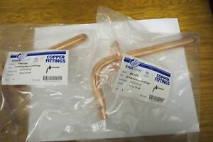 2 Copper Pex Stub Out 1 2 x3 1 2 x 8 With Nail Flange lead Free Compliant